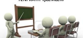 2015-2016 Öğretim Yılı  1. Dönem Yeni Kayıt İşlemleri