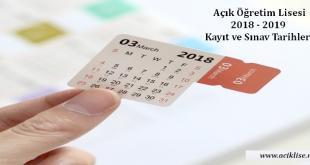 aöl yeni kayit 2018 açık lise kayıt yenileme 2019 aöl sınav tarihi 2019